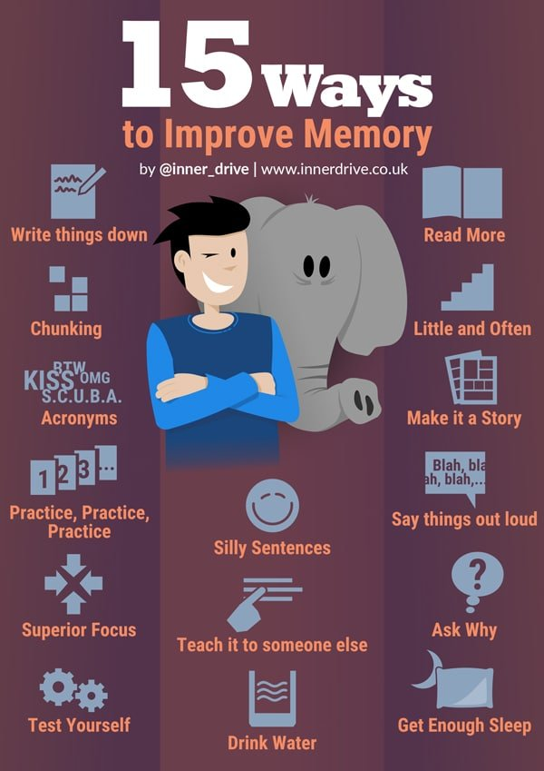 15 to improve memory infographic