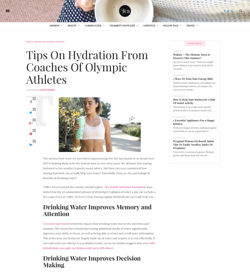 Tips on hydration