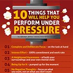 How to perform better under pressure