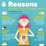 6 reasons to put your phone away infographic poster