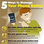 5 ways to manage your phone better infographic poster