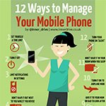 12 ways to manage your mobile phone infographic poster