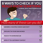 8 ways to check if you really know something